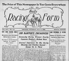 derby racing form daily racing form horse racing drf pinterest racing form