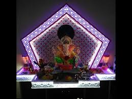 ganpati decoration idea for home youtube