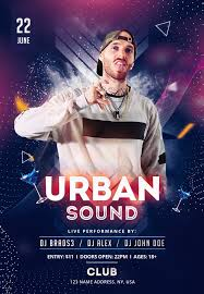 Club Flyers Address Urban Sound Download Free Psd Flyer Template Psdflyer Co