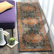 14 runner rug runner rug evoke vintage geometric blue orange 2 x furniture s