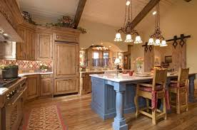 country style kitchen lighting. Fine Country Country Styled Kitchen Special Aspects Of Decoration Intended Style Lighting
