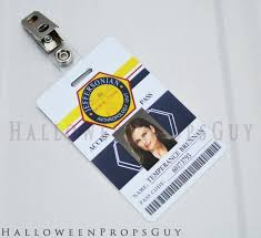 Pvc Strap Bones Style Jeffersonian W Clip Etsy Replica Id Card