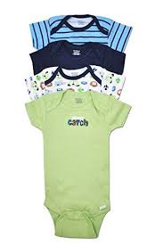 Gerber 4 <b>Pack Baby</b> Boy Puppy Dog and Sports Onesies (0-3 Months).
