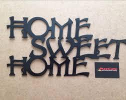 cnc plasma art. home sweet metal wall plaque cnc plasma cut and powder coated in gloss black cnc art