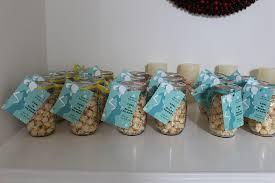 Decorating Mason Jars For Baby Shower Mason Jar Popcorn Baby Shower Favors Mason Jar Crafts 33