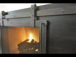 fire place cover barn door