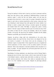 Essay On Animal Farm By George Orwell Essay Animal Farm