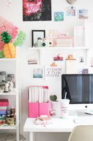 office desk decorations. Girly Office Desk Accessories Luxury Creative Workspace Home With Pops Of Pink Decorations D