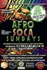 Soca Airport Charts Afro Soca Sundays Nightlifeindc Com