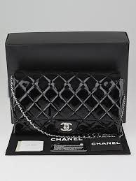 Chanel Black Quilted Patent Leather Chain Flap Clutch Bag ... & ... Chanel Black Quilted Patent Leather Chain Flap Clutch Bag Adamdwight.com