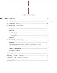 Table Of Contents Apa Order And Components Thesis And Dissertation Guide Unc