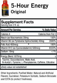 5 hour energy nutrition facts nutrition facts the truth facts about food fruit vegetable
