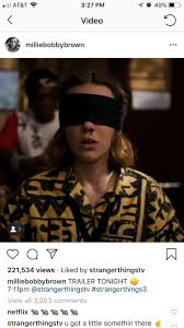Millie Bobby Brown Instagram Trailer ...
