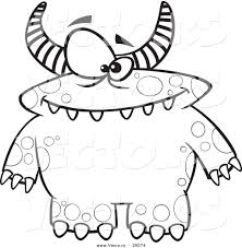 Small Picture Monsters Coloring Pages Cute Cartoon Monster Coloring Page Free