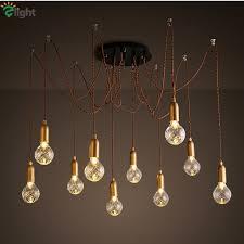 tin lighting fixtures. modern simple glass diy led chandeliers lustre copper loft bar chandelier lighting rope spider hanging lights fixtures tin