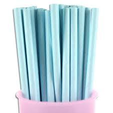 Light Blue Straws Amazon Com Free Dhl 500 Pcs Plain Light Blue Paper Straws