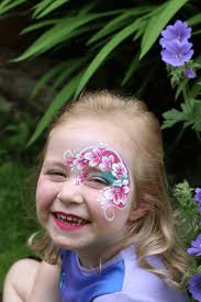 sienna laughing face paint flowers