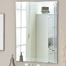 Bevelled Bathroom Mirror Furniture Top Notch Square Bevelled Mirror Tiles For Your Wall
