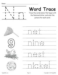 Letter N Tracing Worksheet Alphabet Tracing Worksheet Writing A Z ...