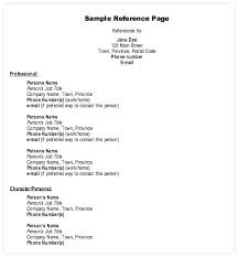 Examples Of References For Resume Employment Reference Page Sample References Resume Template P 2