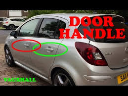 how to remove a door handle front back vauxhall corsa d 06 14