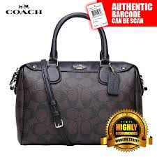 Coach F36702  NWT  Mini Bennett Satchel In Signature - IMAA8 (Black   Brown