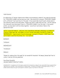 Teacher Appreciation Week Letter Sample Teacher Appreciation Week