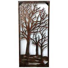 riverside copper steel wall art decorative panel