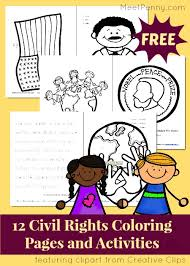 Small Picture Black History Month Free Civil Rights Coloring Pages and Activity