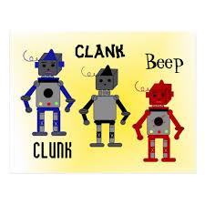 Robots With Funny Sayings Postcard