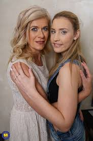 Mature lesbian and young woman