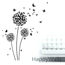 wall arts flower wall art erfly decor metal sticker decal removable erflies stickers easy in