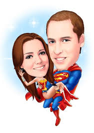 super hero caricatures with super man holds super woman perfect for anniversary gift caricatures weddingcaricatures dadgift every s dream