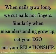 When nails grow long, we cut nails not fingers. Similarly when ... via Relatably.com