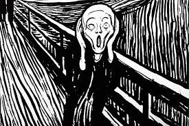 an 1895 lithograph by edvard munch of his painting the scream
