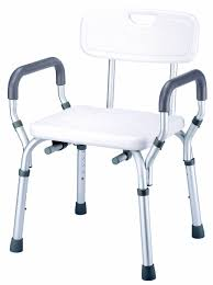 square shower stool with arms display ed with backrest