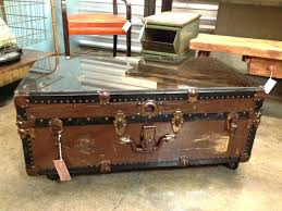 old trunks as coffee tables vintage