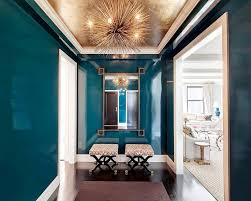 modern entryway lighting. Gold Foil Wallpaper On The Ceiling Of This Modern Entryway/foyer With Abstract Light Fixture Entryway Lighting F