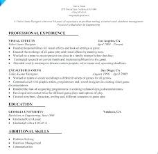 Technical Designer Resumes Freelance Video Editor Resume Video Resume Example Video Game