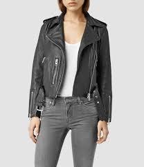 all saints balfern leather jacket black