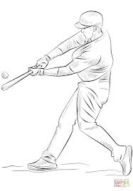 Baseball Player Coloring Page Free Printable Coloring Pages