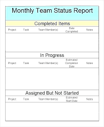 format of a management report monthly status report template word management templates doc