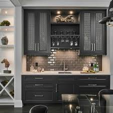 White home bar furniture Home Use Wet Bar Small Transitional Singlewall Dark Wood Floor And Brown Floor Wet Bar Home Depot 75 Most Popular Small Home Bar Design Ideas For 2019 Stylish Small