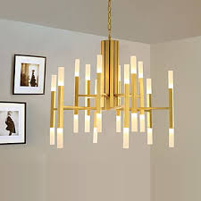 led chandelier modern contemporary painting feature gold white led designers pendant light living room bedroom