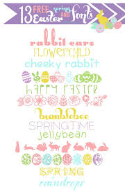 Free Spring 13 Free Easter And Spring Fonts