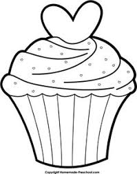 birthday cupcake clip art black and white. Perfect Black Birthday20cupcake20clip20art20black20and20white Cupcake Outline For Birthday Clip Art Black And White A