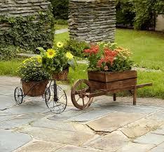 awesome diy wooden wheelbarrow planter