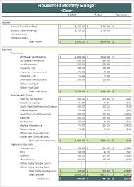 Budget Samples Household Elegant Monthly Household Budget Template Stock Monthly Household