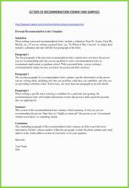 Personal Reference Letter For A Friend Sample Recommendation Letter Gallery Of Personal Reference