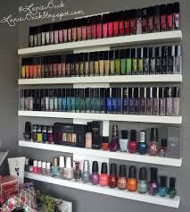 wall nail polish rack diy nail polish rack ideas see more at s